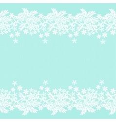 White lace border vector