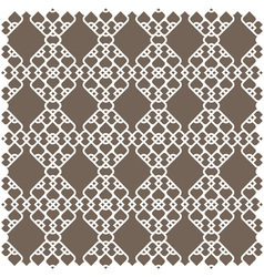 White pattern in islamic style vector image