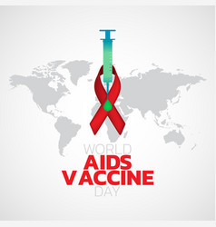 World aids vaccine day logo icon design vector