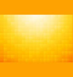 yellow orange mosaic background vector image