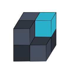 cube 3d symbol vector image