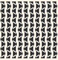 vertical wavy stripes geometric black texture vector image