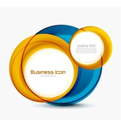 Abstract swirl circles background vector image