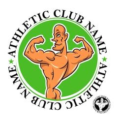 athletic club emblem vector image vector image
