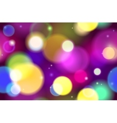 Blurred Bokeh Lights Background vector image vector image