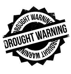 Drought Warning rubber stamp vector image