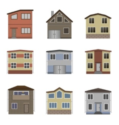 House and building set vector image vector image