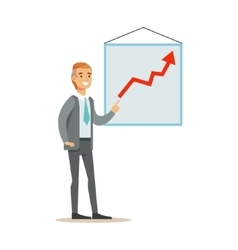 Marketing Specialist Doing Presentation With Chart vector image
