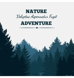 Pine forest landscape background vector