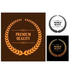 Premium Quality laurel wreath icons vector image vector image