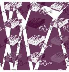 seamless pattern of points and books vector image vector image