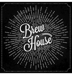 Beer Logo On Chalk Background vector image vector image