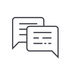 chattingmessages line icon sign vector image