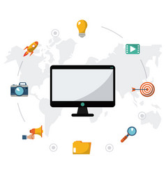 computer social media connection digital vector image