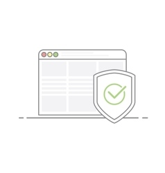 Concept of Internet security Shield image with a vector image