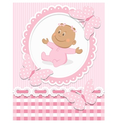 Smiling African baby girl vector image vector image