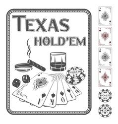 Texas hold em poker vector