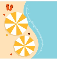 Beach summer background with umbrella vector image vector image
