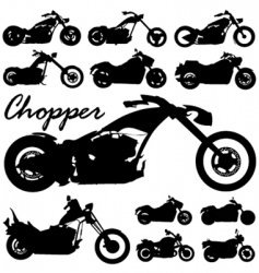 chopper motorcycles vector image vector image