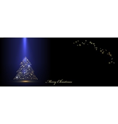 Christmas blue banner vector image vector image