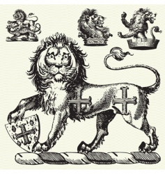 medieval lions vector image