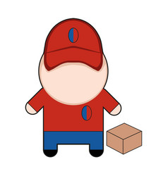 profession character delivery man vector image vector image