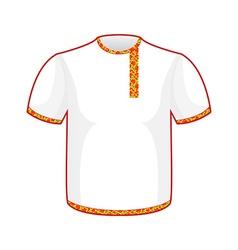 Russian folk mens T-shirt Traditional ancient vector image vector image