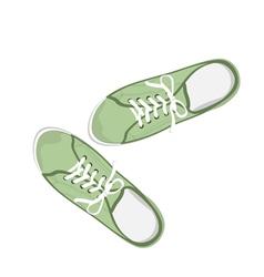 Sport gumshoes vector image