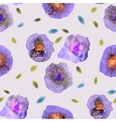 Vintage watercolor flower pattern white backdrop vector