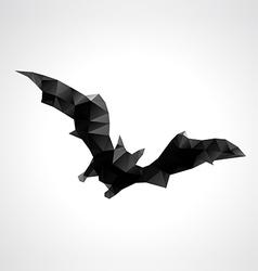 Abstract geometric polygonal halloween bat vector