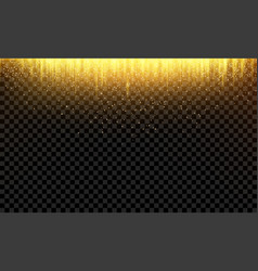 abstract golden falling glitter background vector image