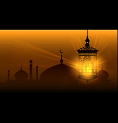 arabian nights ramadan kareem islamic background vector image