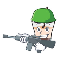 Army white russian character cartoon vector