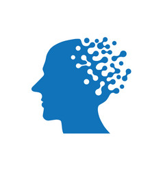 Artificial intelligence icon human ai vector