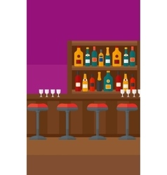 Background of bar counter vector