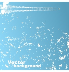 Background with plane and clouds vector