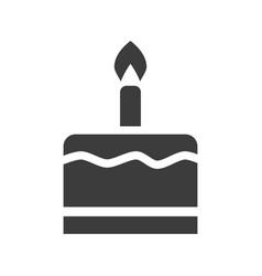 birthday cake icon on white background vector image