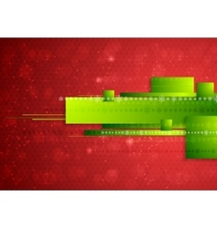 Bright abstract tech Christmas background vector