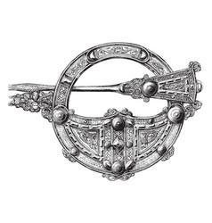 Brooch antique design vintage engraving vector