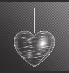 Burning heart with sparkle vector