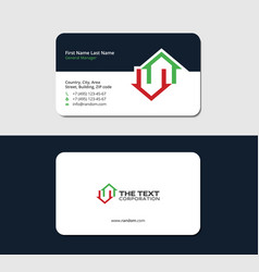 Business card for a home builder vector
