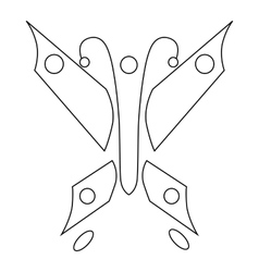 Butterfly icon outline style vector image vector image