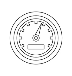 Car speedometer icon outline style vector image