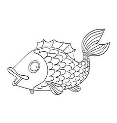 cartoon image of fish vector image