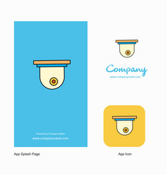 cctv company logo app icon and splash page design vector image