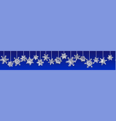 christmas banner with volume paper snowflakes vector image