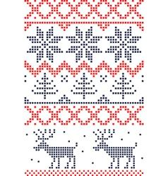 Christmas stitch vector