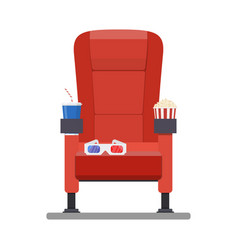 Cinema red comfortable seat vector