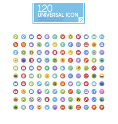 colorful drop shadow icon set vector image