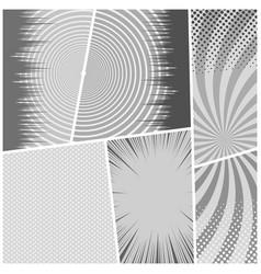 Comic book monochrome light background vector
